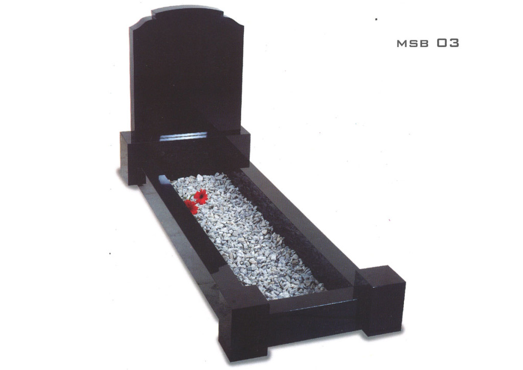 Black Kerb Headstone set