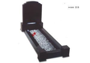 Black Kerb Headstone set