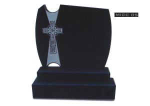 Black granite celtic cross design