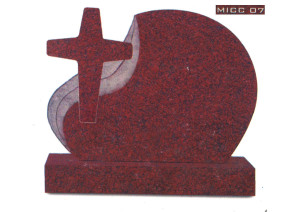 India Red granite cross
