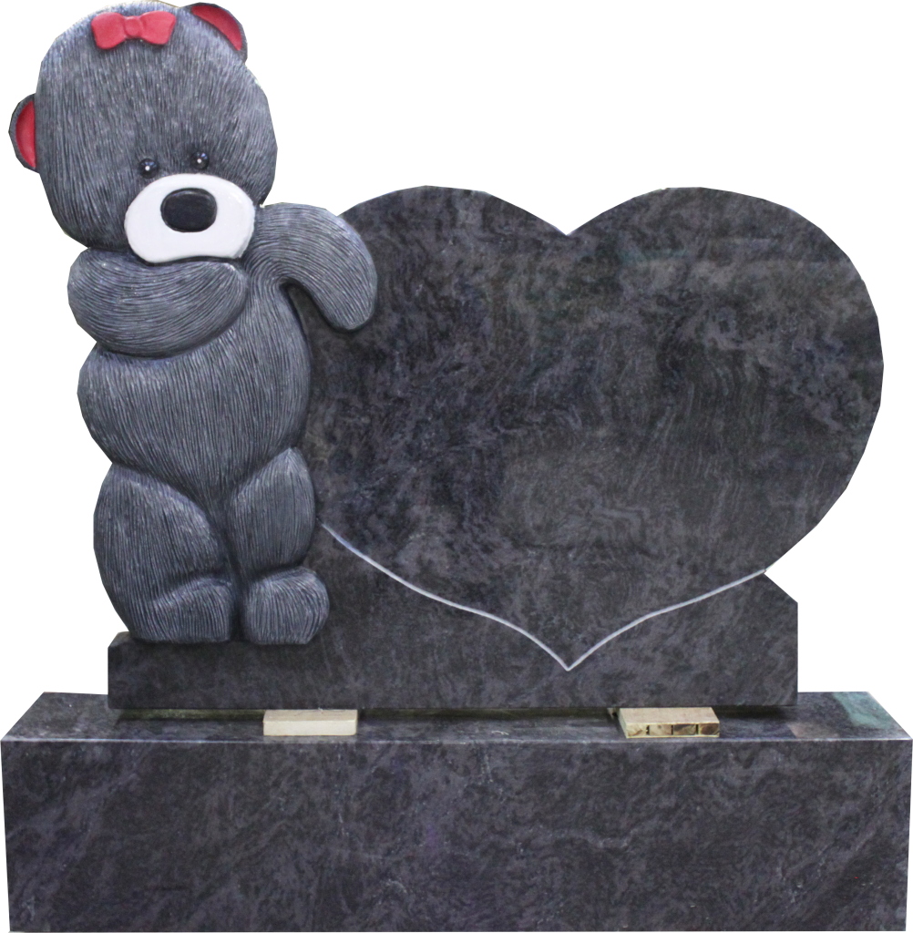England Teddy bear tombstone heart